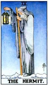 Tarot cards meaning: The Hermit