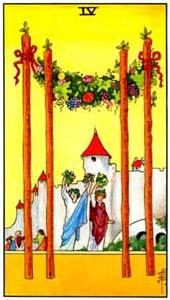 Tarot cards meaning: Four of Wands