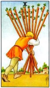 Tarot cards meaning: Ten of Wands