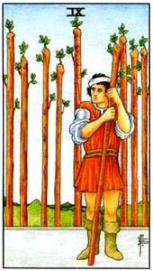 Tarot cards meaning: Nine of Wands
