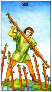 Tarot cards meaning: Seven of Wands