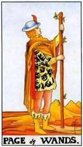 Tarot cards meaning: Page of Wands