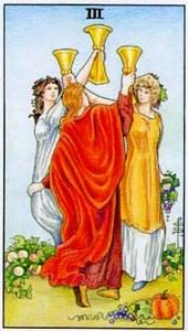 Tarot cards meaning: Three of Cups
