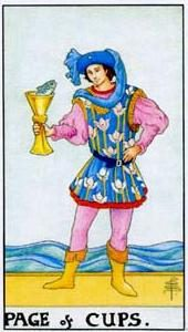 Tarot cards meaning: Page of Cups