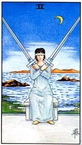 Tarot cards meaning: Two of Swords