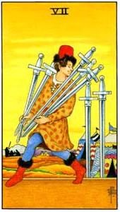 Tarot cards meaning: Seven of Swords