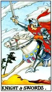 Tarot cards meaning: Knight of Swords