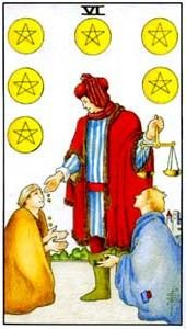 Tarot cards meaning: Six of Pentacles