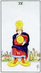Tarot cards meaning: Four of Pentacles