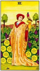 Tarot cards meaning: Nine of Pentacles