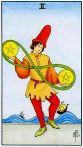 Tarot cards meaning: Two of Pentacles