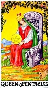 Tarot cards meaning: Queen of Pentacles