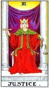 Tarot cards meaning: Justice