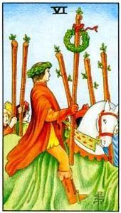 Význam tarotových kariet: Žezlová šestka