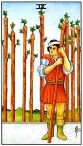 Význam tarotových karet: Žezlová devítka