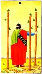 Význam tarotových karet: Žezlová trojka