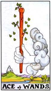 Význam tarotových karet: Žezlové eso
