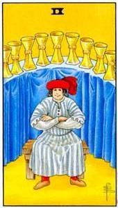 Význam tarotových karet: Kalichová devítka