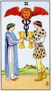 Význam tarotových karet: Kalichová dvojka