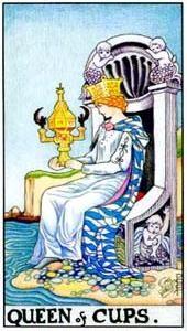 Význam tarotových kariet: Kalichová kráľovná