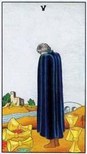 Význam tarotových kariet: Kalichová päťka