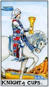 Význam tarotových karet: Kalichová rytíř