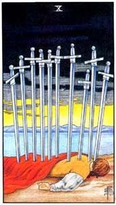 Význam tarotových karet: Mečová desítka