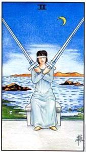 Význam tarotových kariet: Mečová dvojka