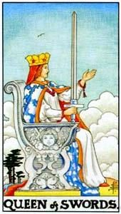 Tarot cards meaning: Queen of Swords