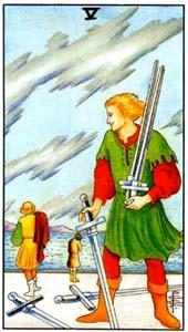 Tarot cards meaning: Five of Swords