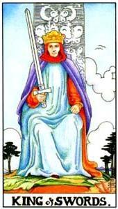 Význam tarotových karet: Mečový král