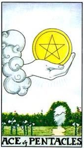 Tarot cards meaning: Ace of Pentacles