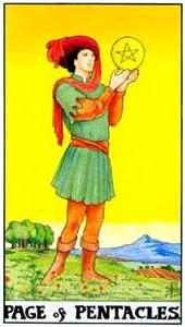 Tarot cards meaning: Page of Pentacles