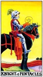 Význam tarotových kariet: Mincový rytier